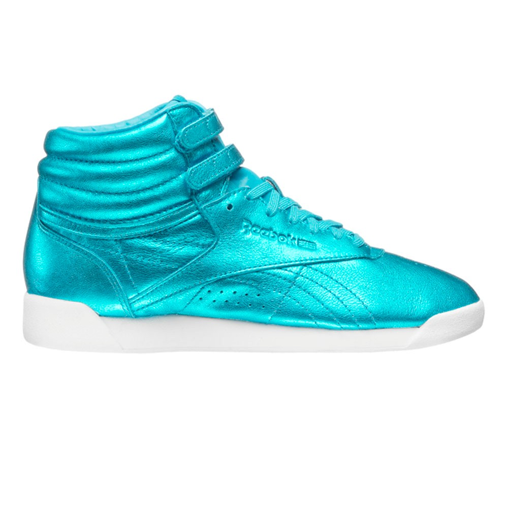 12dc1f1fd19 Reebok Freestyle Hi Metallic (FEATHER BLUE WHITE) Women s Shoes CN0959