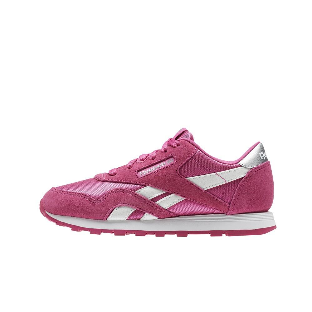Reebok Classic Leather Nylon (PINK WHITE) Pre School Kids Shoes CN1264 c65a5cf56bf5