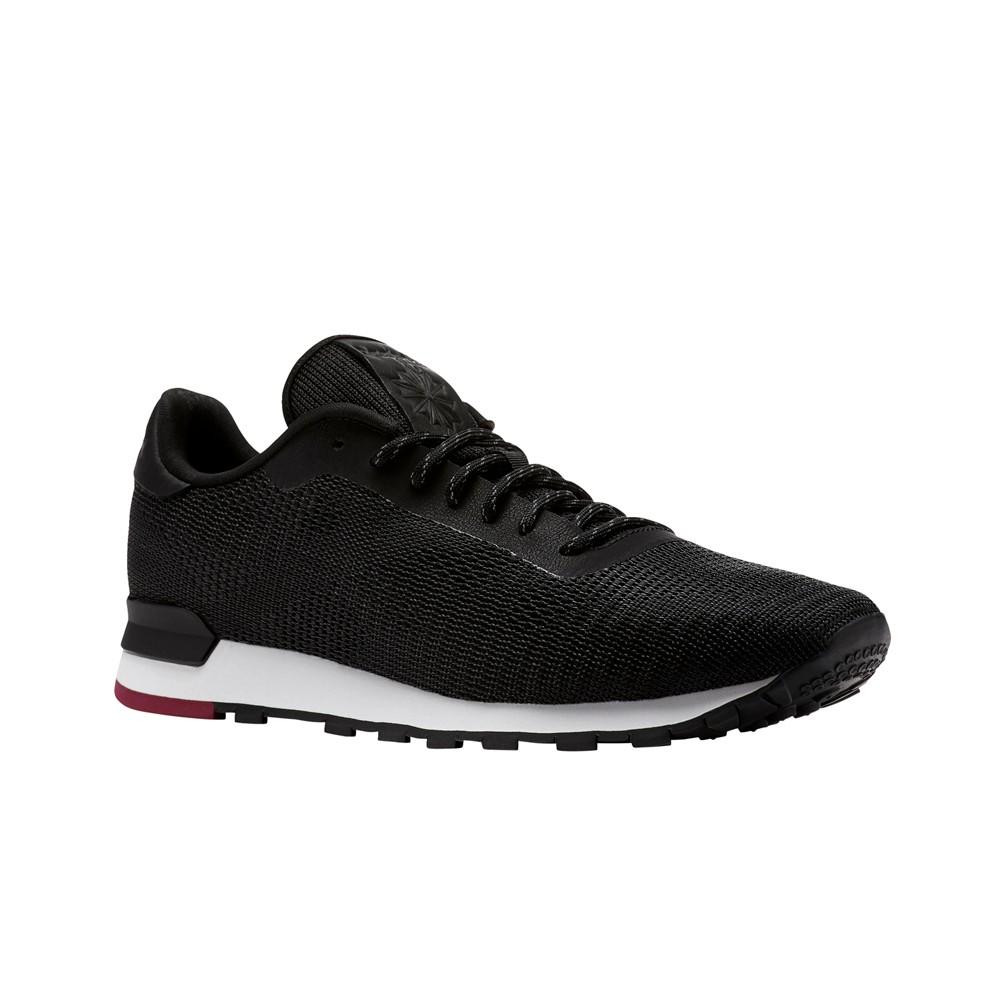 c6df8ee634c Reebok Classic Leather Flexweave (BLACK WHITE URBAN MAROON) Unisex Shoes  CN2135