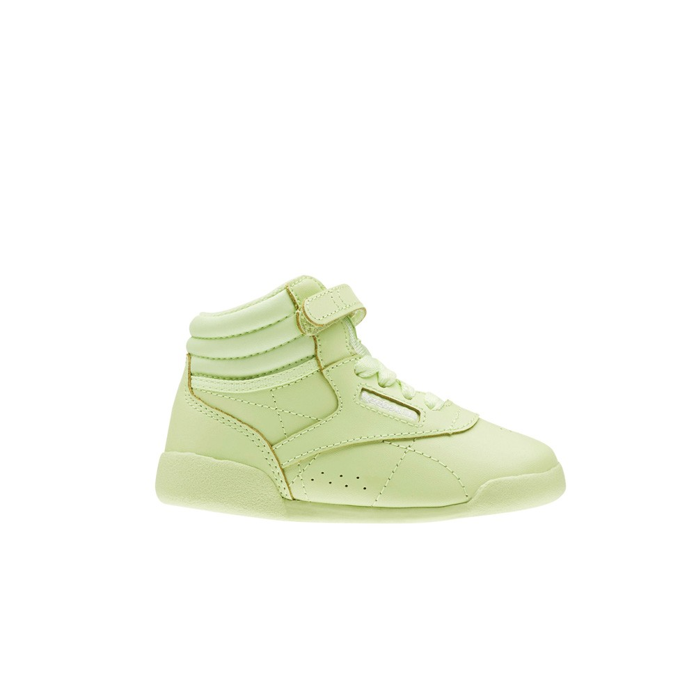 993c1bd48e9ee5 Details about Reebok Freestyle Hi Colors (LIME GLOW WHITE) Toddler Shoes  CN4603