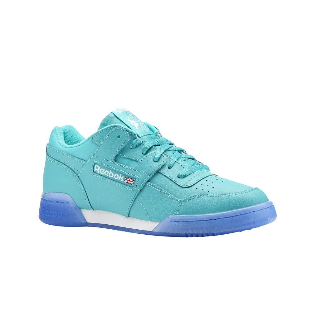973ddf5fc9233e Details about Reebok Workout Plus Ice (SOLID TEAL WHITE ICE) Men s Shoes  CN7181