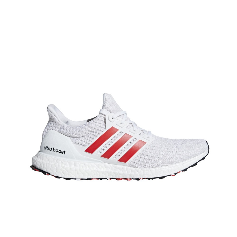 low priced 3c709 8eaa9 Adidas UltraBoost 4.0 (Cloud White Active Red Chalk White) Men s Shoes  DB3199