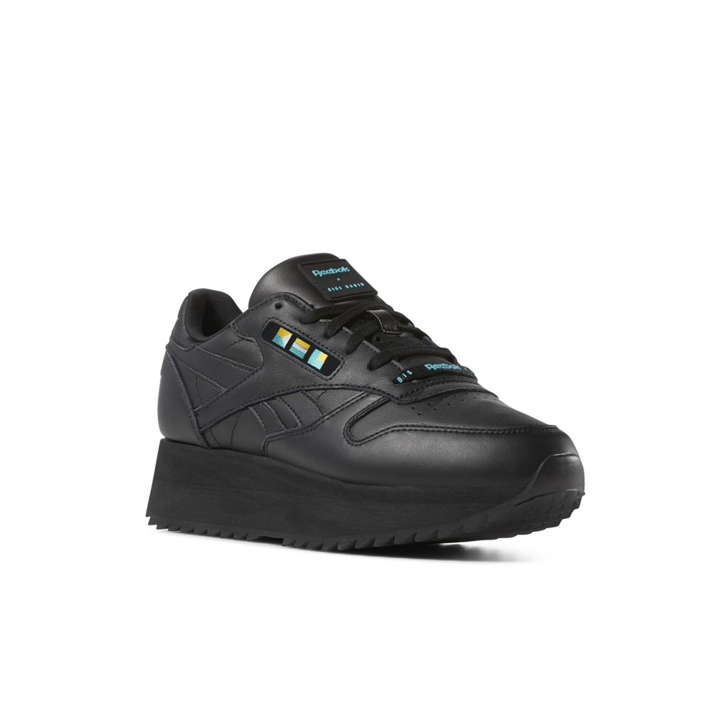 Details about Reebok Classic Leather Double x Gigi Hadid (BlackWhite) Women's Shoes DV5392