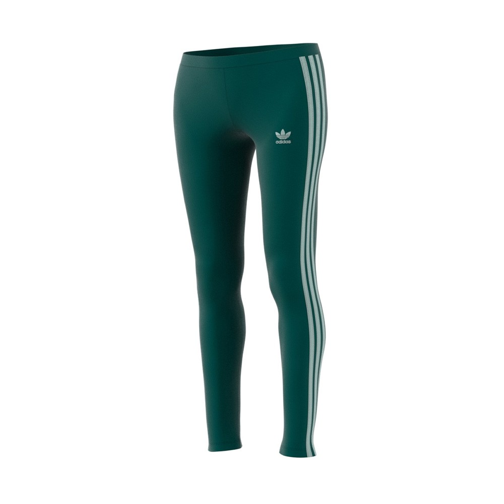 Details about Adidas Originals 3 Stripes Leggings (Noble Green) Women's Pants ED7594