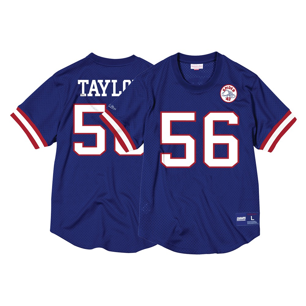 Lawrence Taylor New York Giants Mitchell   Ness Men s Mesh Crew Neck N N  Blue Jersey 4e5f2f108