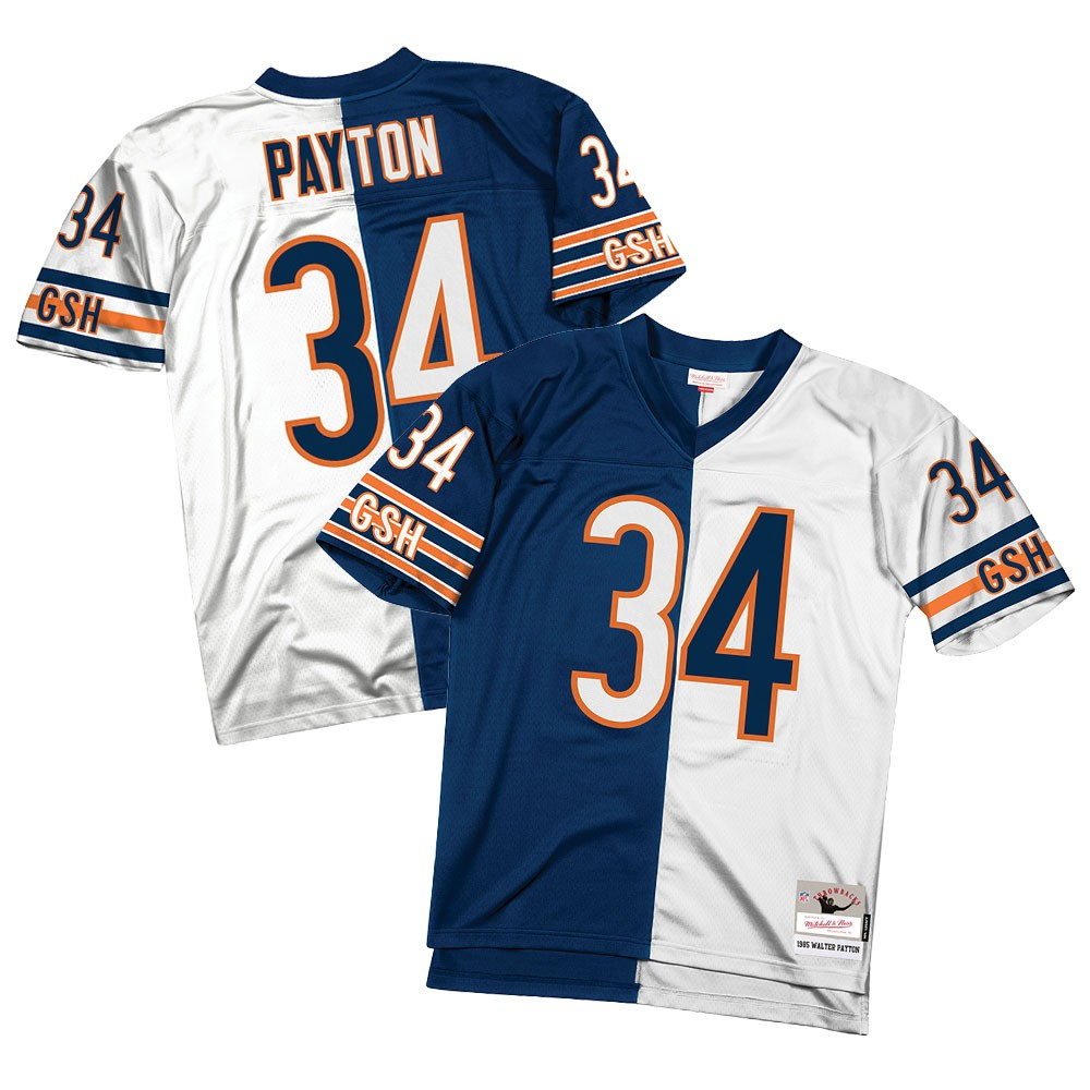 reputable site 6c03d fb199 Details about Walter Payton 1985 Chicago Bears Mitchell & Ness NFL Men  Split Legacy Jersey