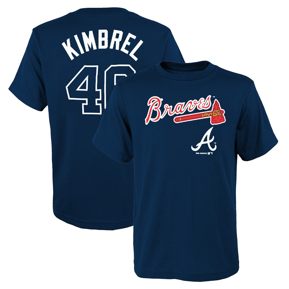 newest collection e7d81 8204d Details about Craig Kimbrel MLB Atlanta Braves Player Name & Number Jersey  T-Shirt Youth S-XL