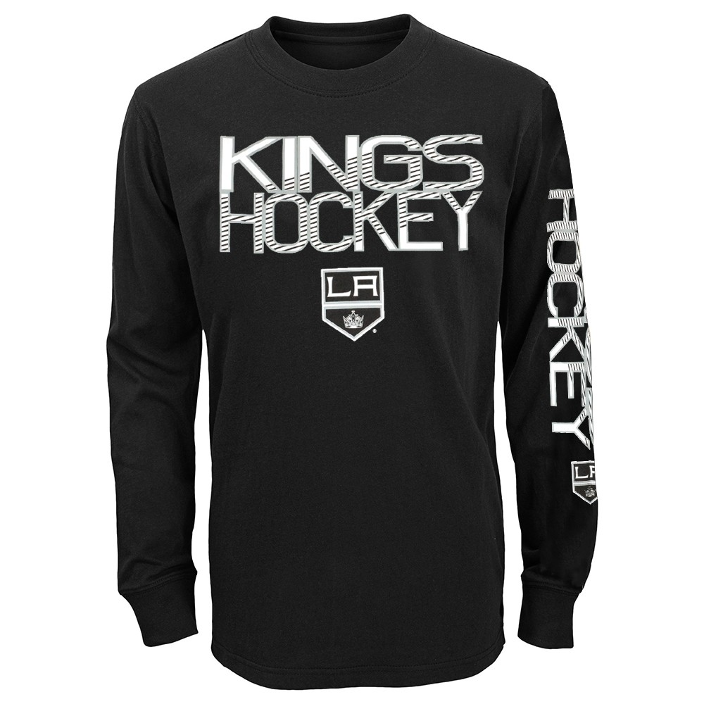 138df80ff Los Angeles Kings NHL Youth Black Long Sleeve Cotton T-Shirt