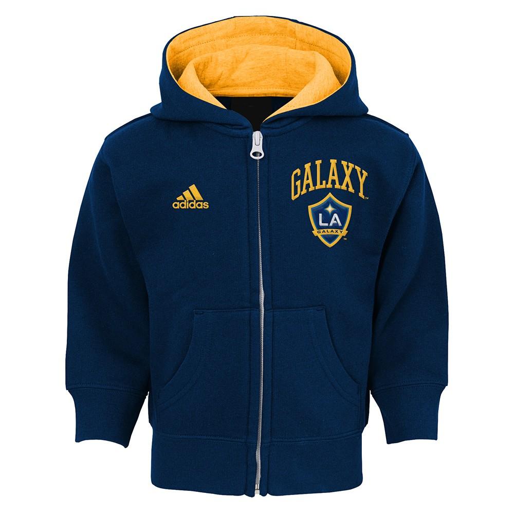 Navy adidas MLS Men/'s Los Angeles Galaxy Team Color Travel Jacket