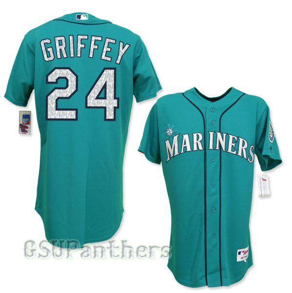 Ken Griffey Jr. Game Used   Autographed 1996 Seattle Mariners Teal  Alternate Jersey (Unique 3a2bfb16c4b0