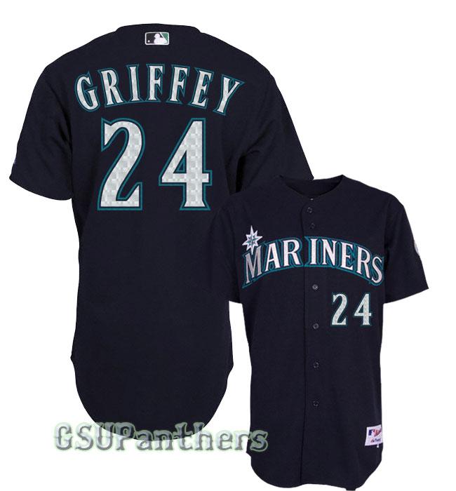 Ken Griffey Jr Seattle Mariners Authentic Alternate Navy Blue Jersey ... 6c9b4933f017