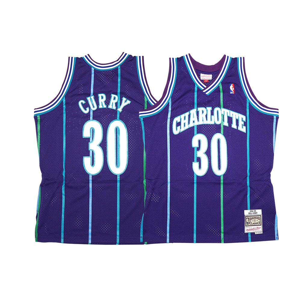 d2c9ab693135 Dell Curry NBA 1994-95 Charlotte Hornets Mitchell   Ness Men s Purple Alt  Swingman Jersey