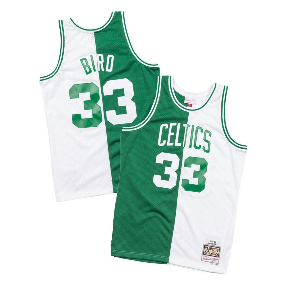 Larry Bird 1985-86 Boston Celtics Mitchell   Ness Men s Split Swingman  Jersey 3c452927c
