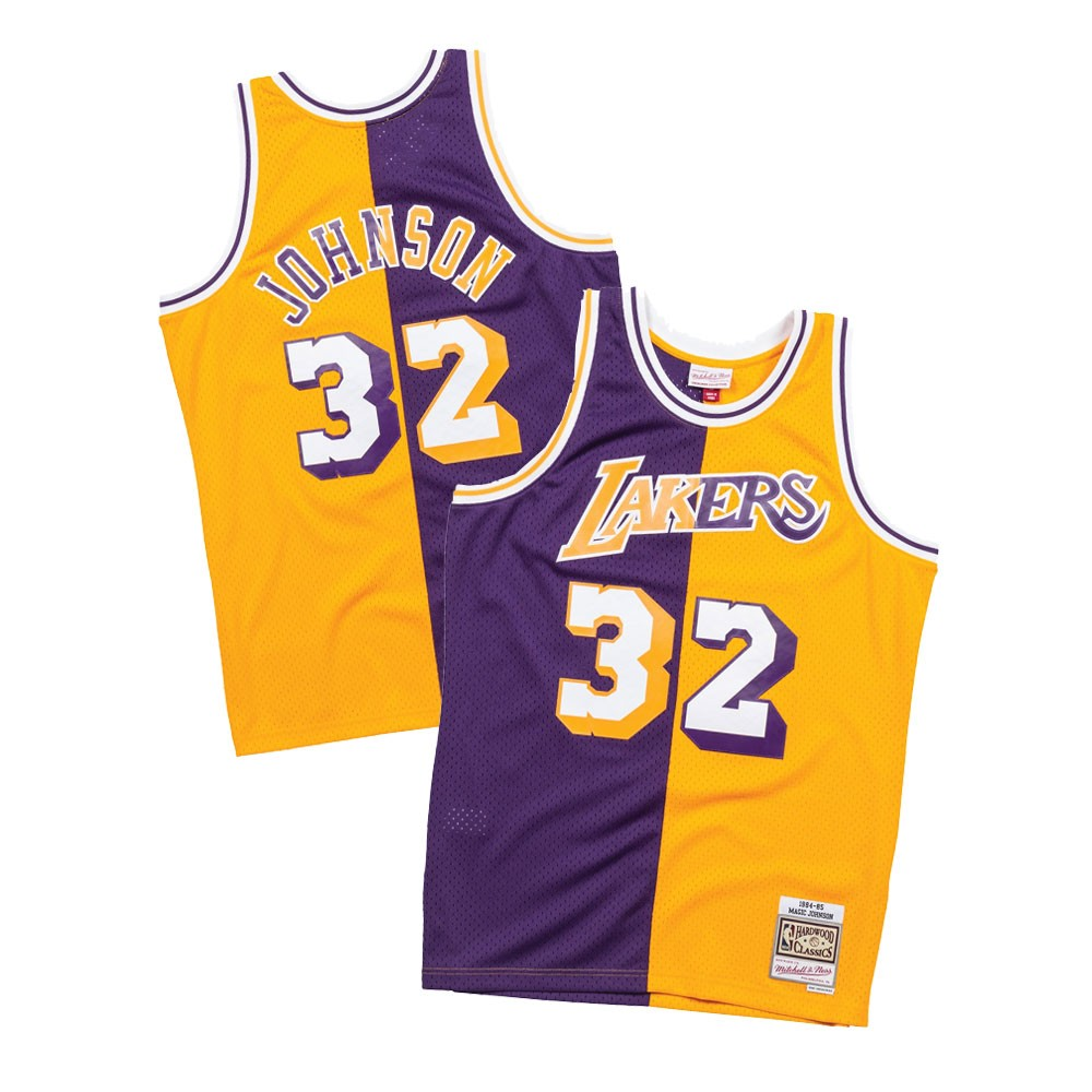 a4de4575b Magic Johnson 1984-85 Los Angeles Lakers Mitchell   Ness Men s Swingman  Jersey