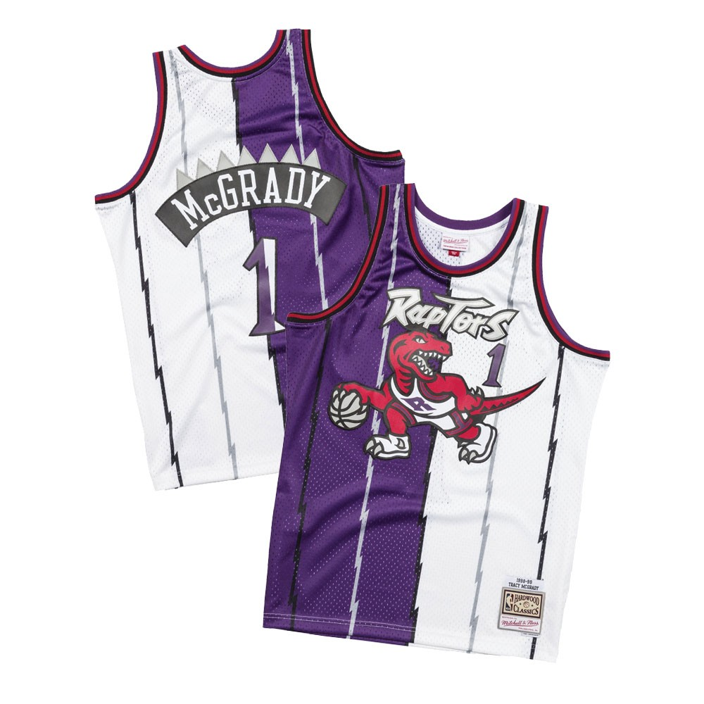 Tracy McGrady 1998-99 Toronto Raptors Mitchell   Ness Split Swingman Jersey 4885f21e7