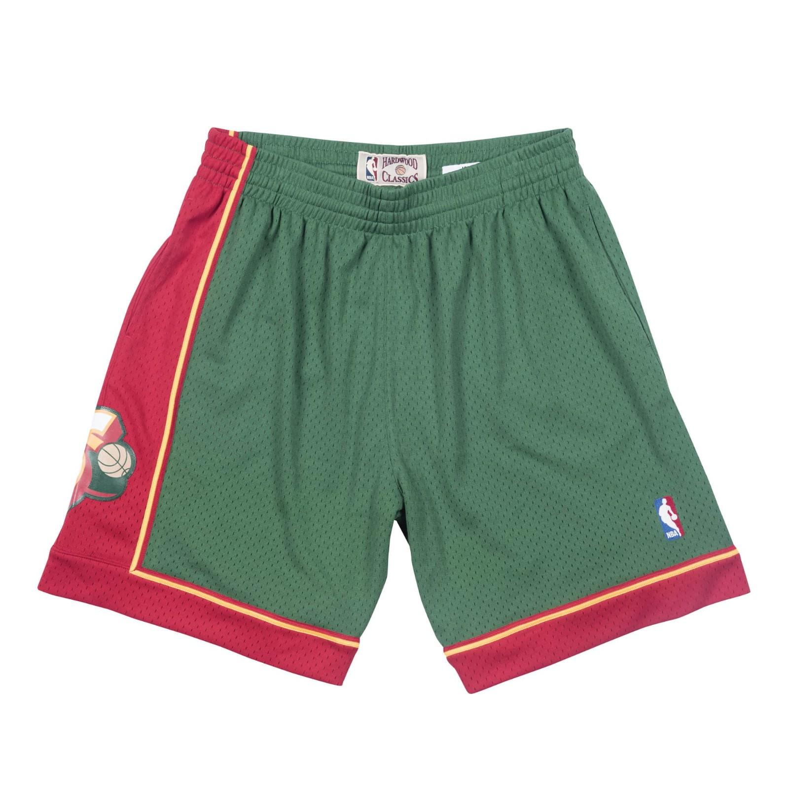 380f87494a7 Seattle Supersonics NBA Men s Mitchell   Ness 1995-96 Road Green Swingman  Shorts