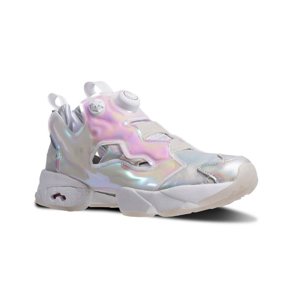 8b3ca2ab20cf Reebok Instapump Fury Cinderella (WHITE SILVER NEON BLUE) Women s Shoes  V65831