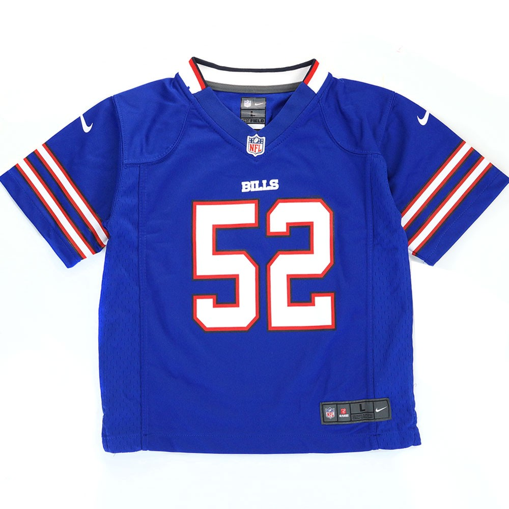 best website 1cebf ac07c Details about Jerry Hughes Buffalo Bills NFL Nike Boys Blue Home Game Jersey