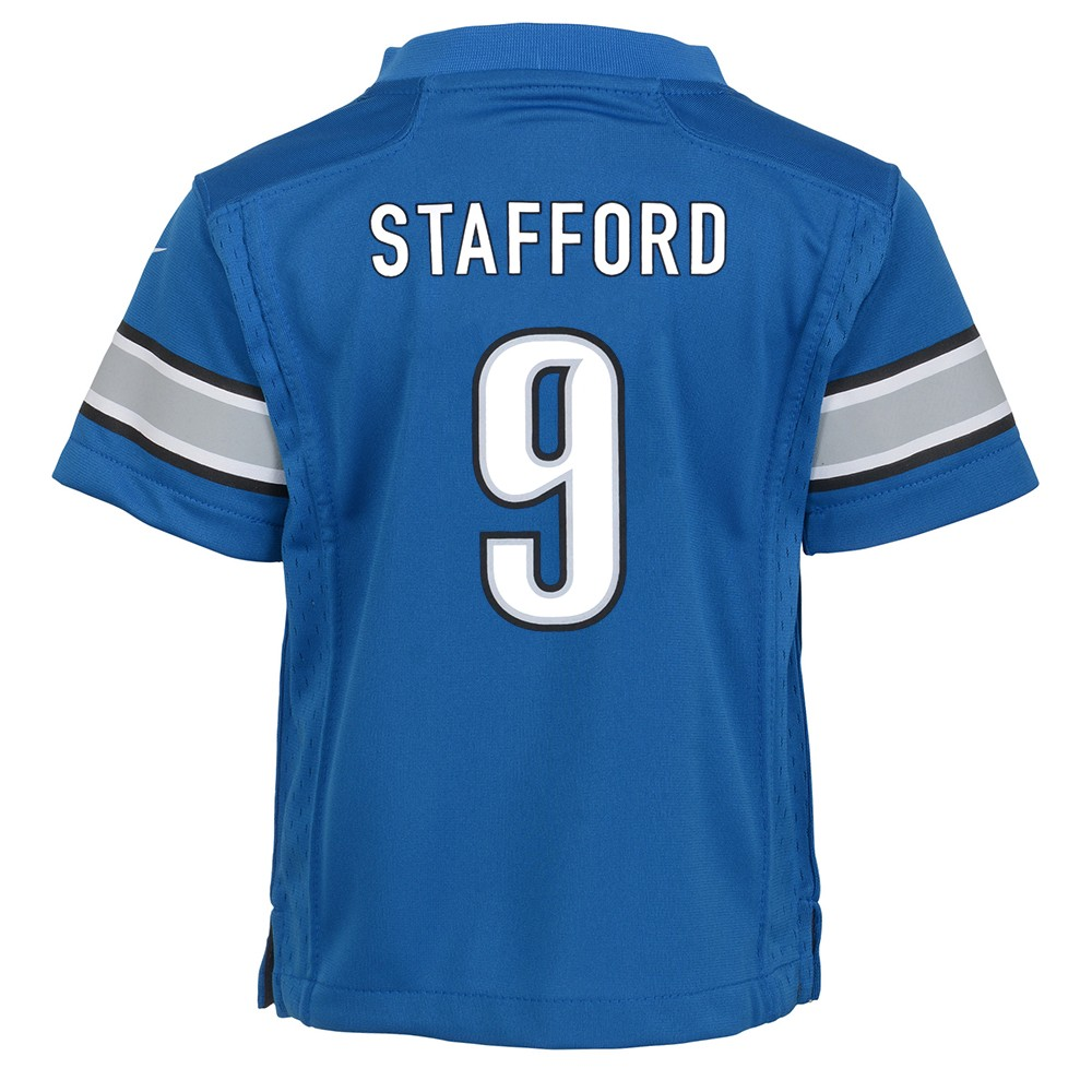new style 979bc c092f Details about Matthew Stafford Detroit Lions Nike Home Blue Jersey Boys  (S-L)
