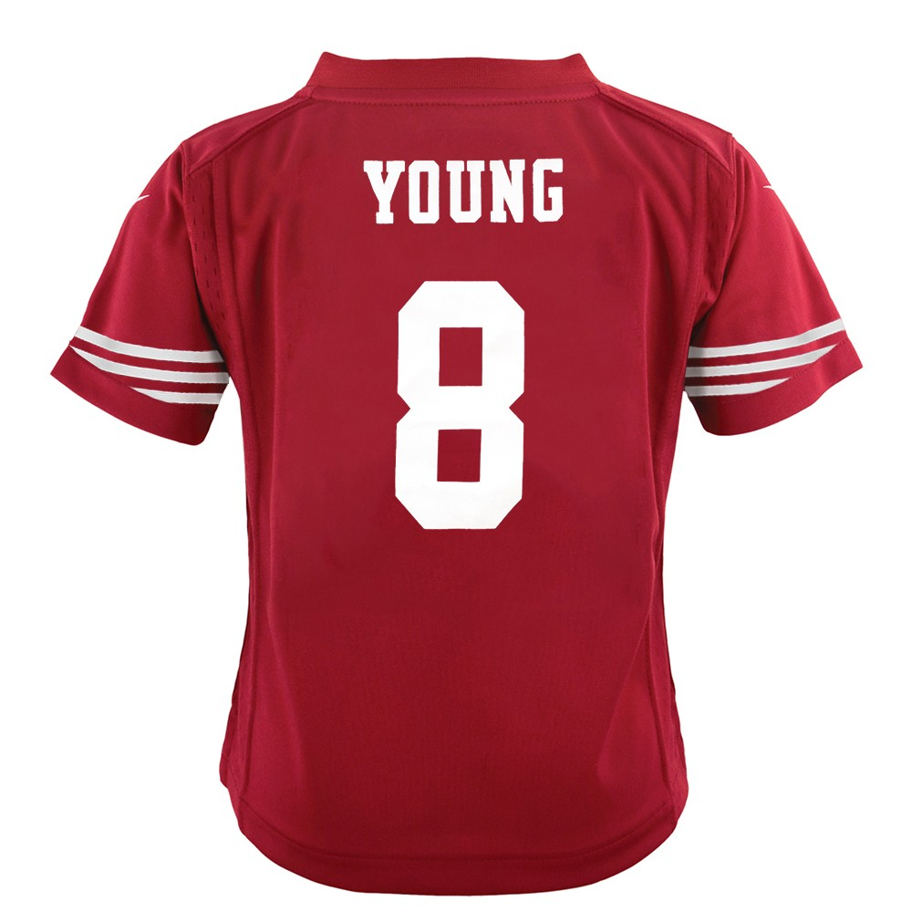 Details about Steve Young San Francisco 49ers Nike Home Red Jersey Boys (S-L)