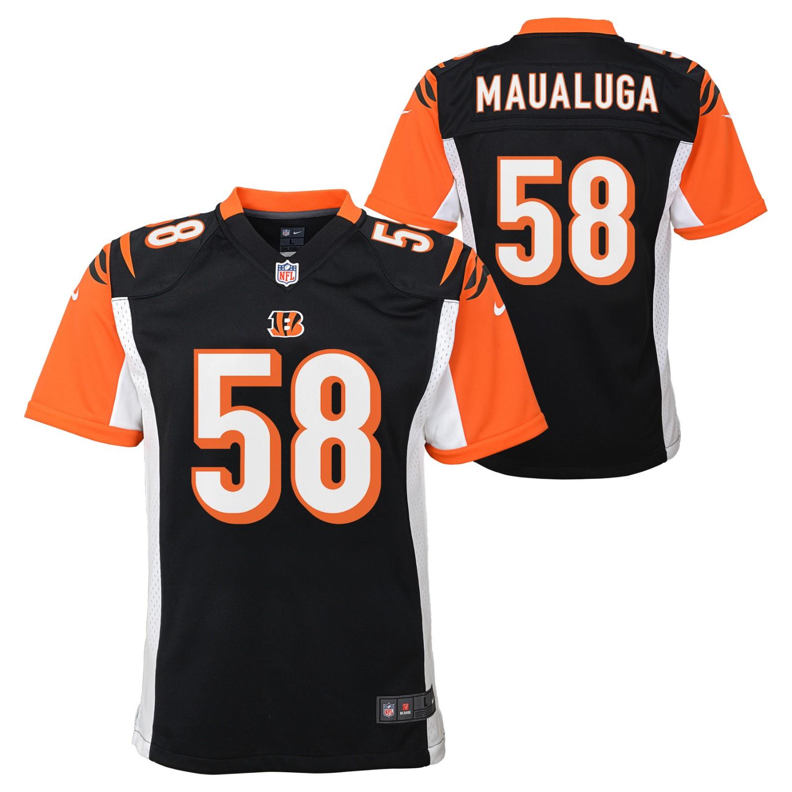 Rey Maualuga Cincinnati Bengals NFL Nike Youth Black Game Jersey ...
