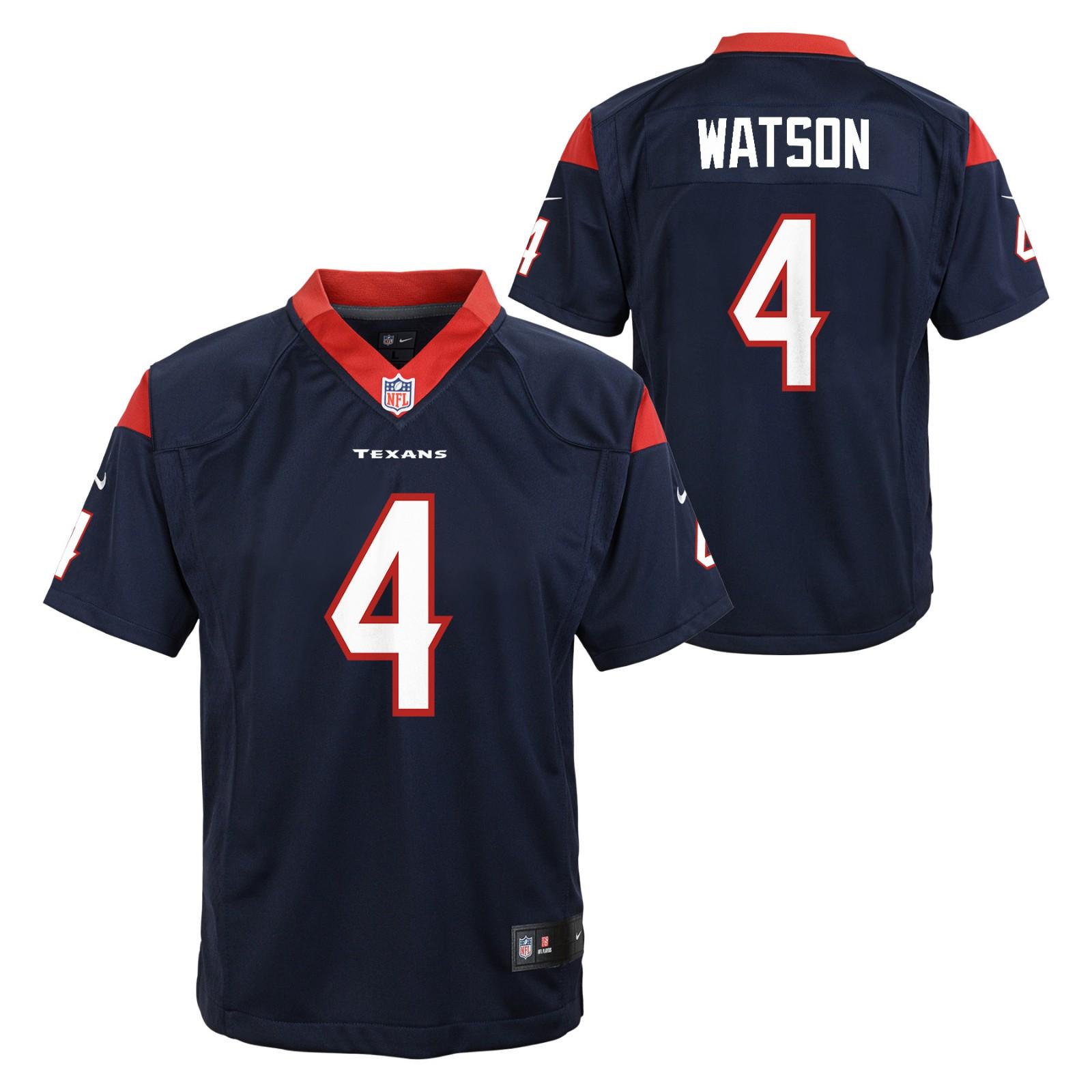premium selection 707e5 6972a Details about Deshaun Watson Houston Texans NFL Nike Youth Navy Blue Game  Jersey