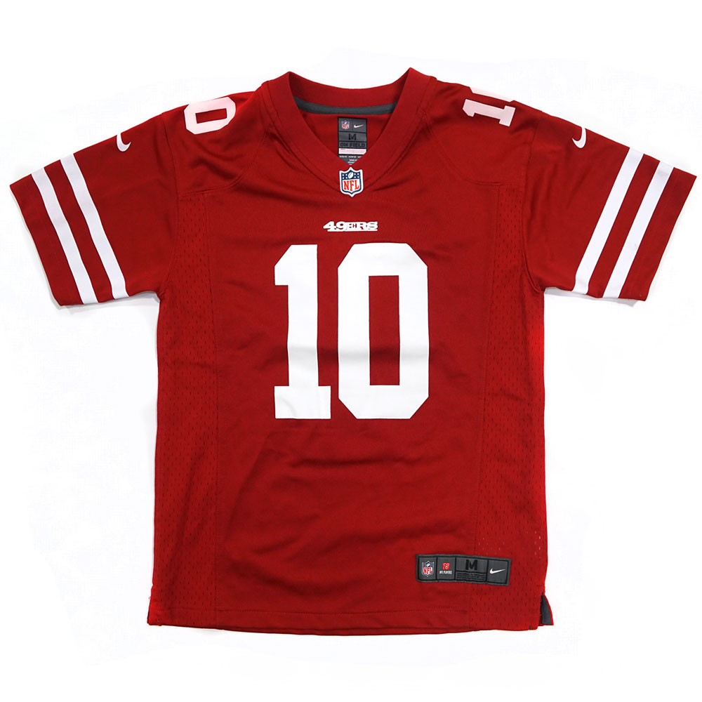 a2cc284c2 Jimmy Garoppolo San Francisco 49ers NFL Nike Youth Red Game Jersey ...