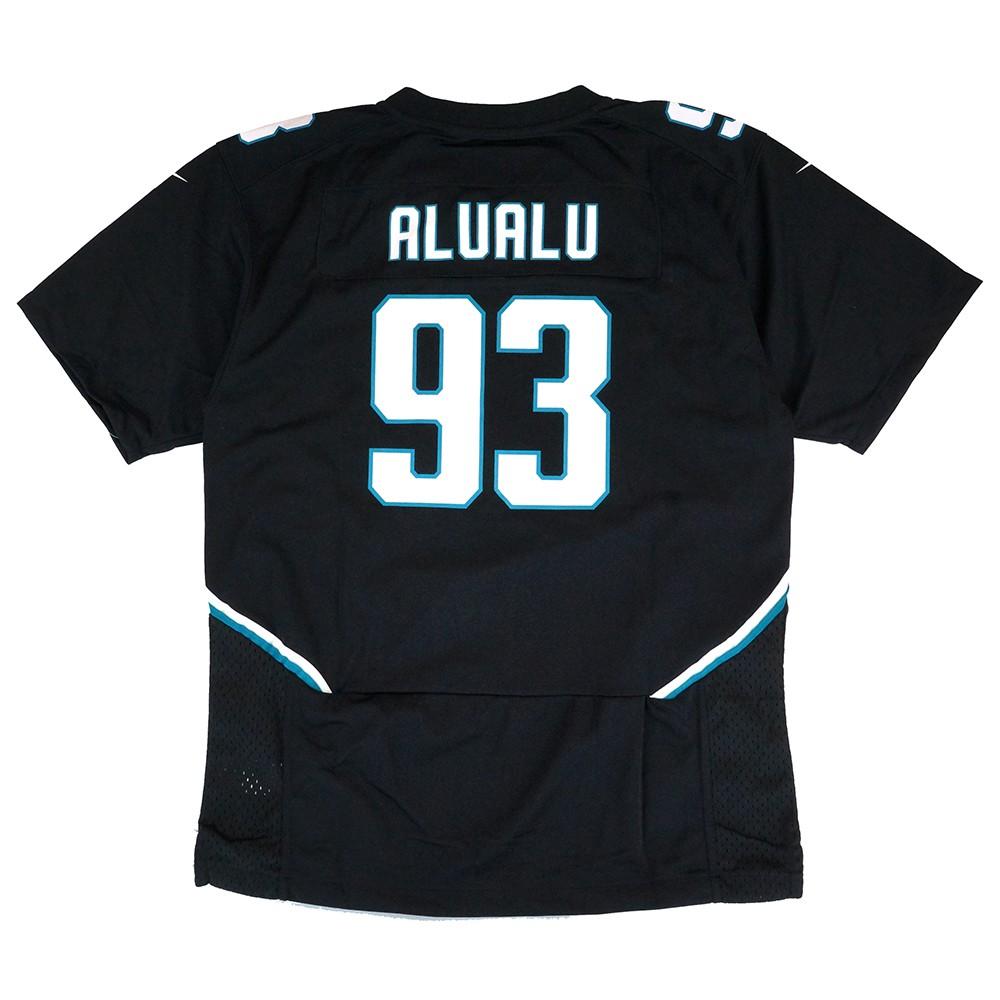 new arrival 03ac8 ba682 Details about Tyson Alualu Jacksonville Jaguars Nike Alternate Black Jersey  Youth (S-XL)