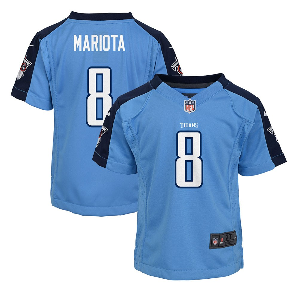 bbd631cf Details about Marcus Mariota Tennessee Titans NFL Nike Girls Youth Light  Blue Alt Game Jersey
