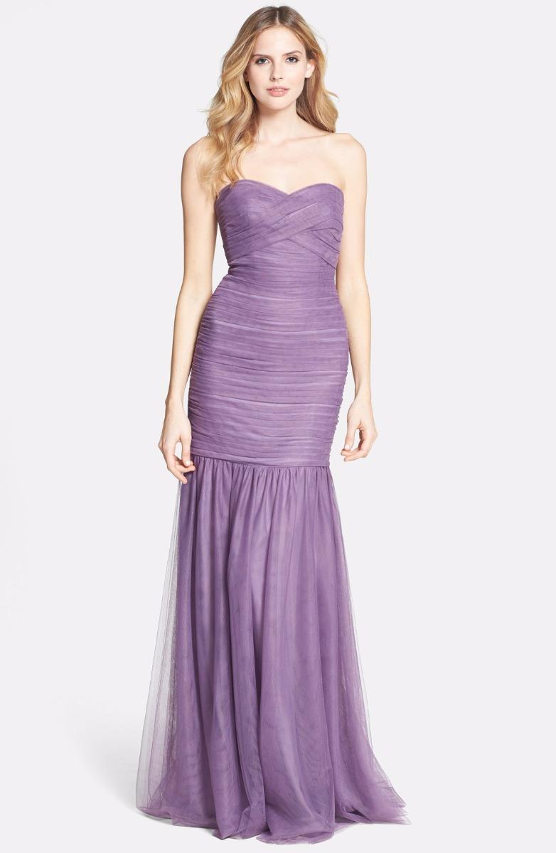 ML Monique Lhuillier Shirred Tulle Gown Dress SZ. 14 $398 ...
