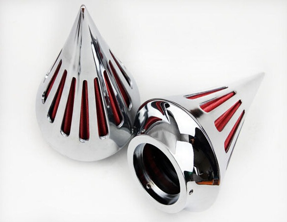 Details about Chrome Double SPIKE AIR CLEANER FOR HARLEY CV CARB DELPHI  V-TWIN EFT SPORTSTER