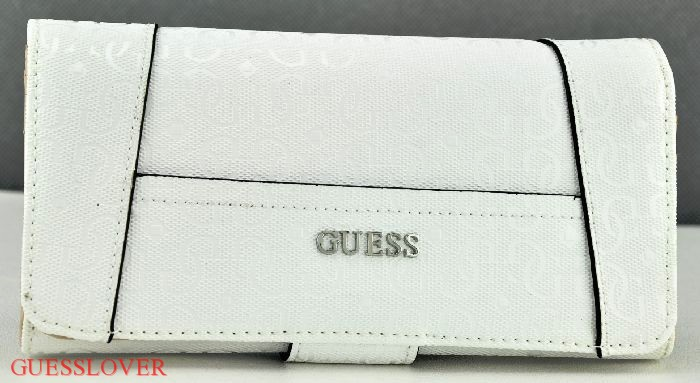 Details about NWT Wallet GUESS Blanco Nero Slg White New Ladies
