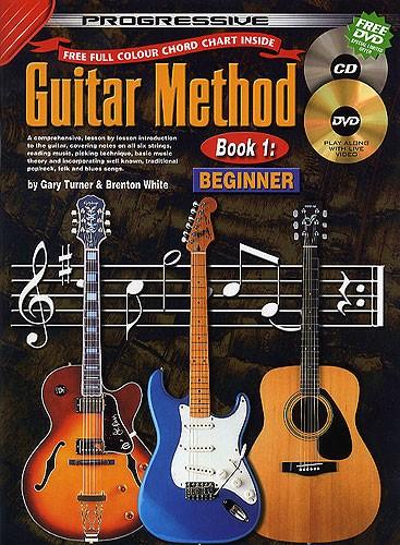 progressive guitar method book 1 beginner cd dvd chord chart new pick ebay. Black Bedroom Furniture Sets. Home Design Ideas
