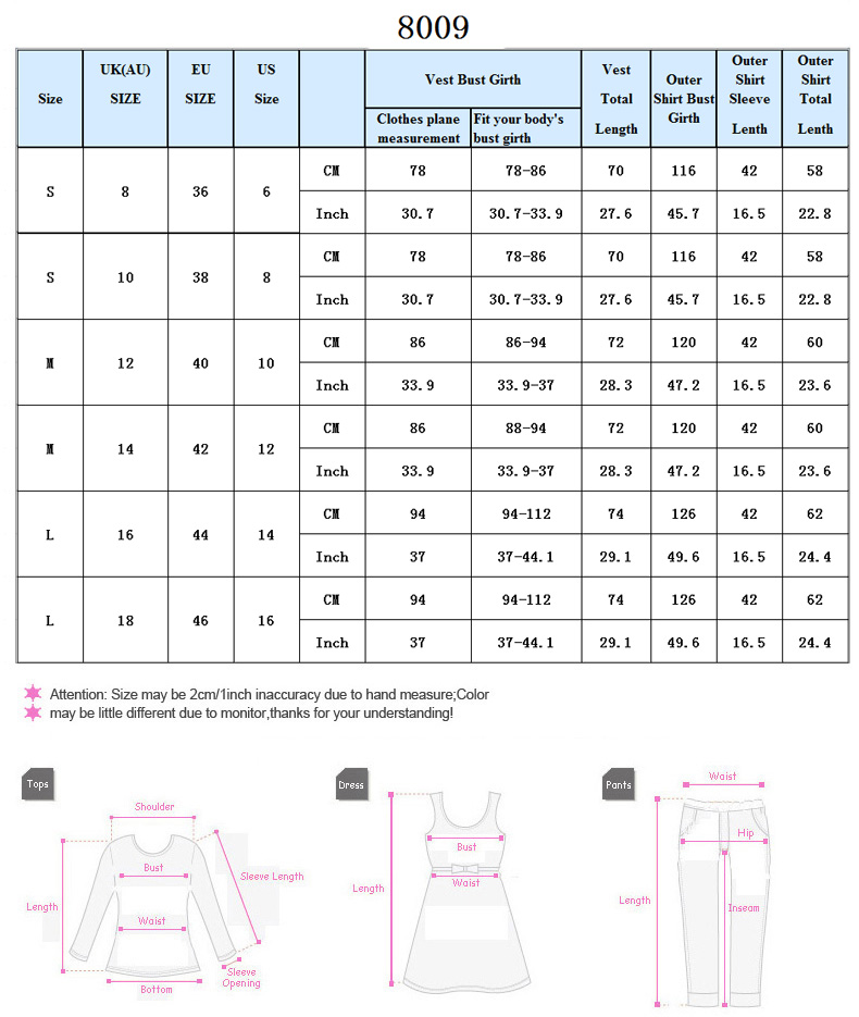 Women's T-shirts & tops Size Guide ASOS own buy sizes are designed to fit the following body measurements: Some brands may vary from these measurements but you can still use them as a guide.