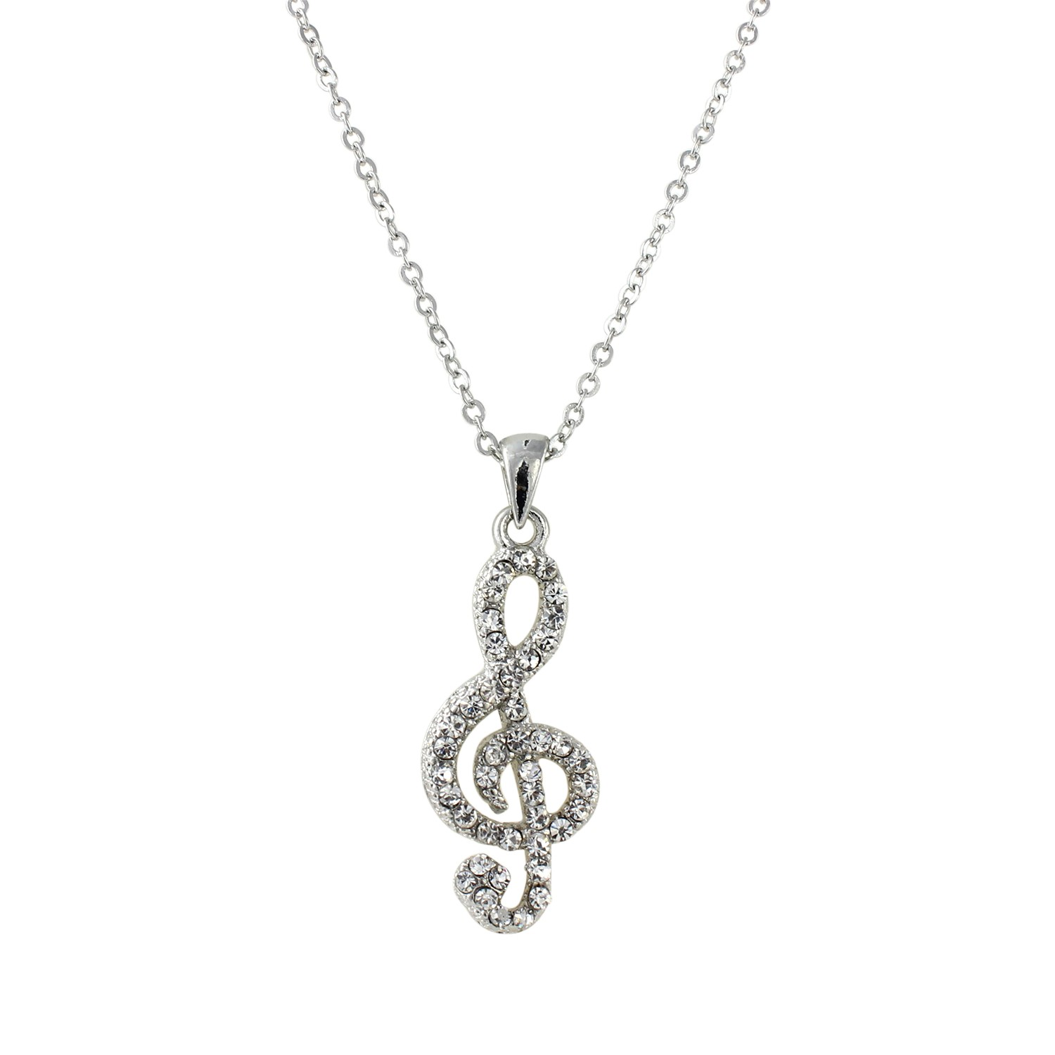 product clef sterling symbol necklace free white inch silver chain jewelry orders box note shipping overstock g cgc music watches pendant over on