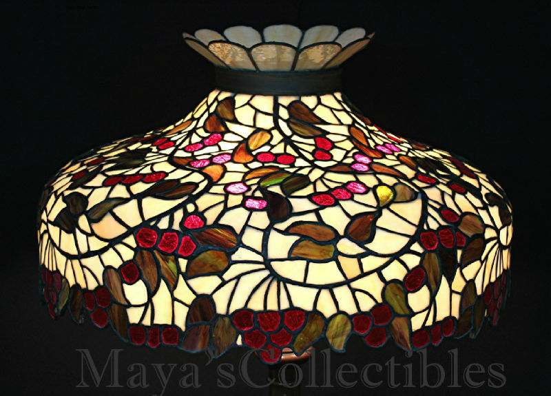 Chicago Mosaic Leaded Stained Glass Lamp Shade Cherry Tree