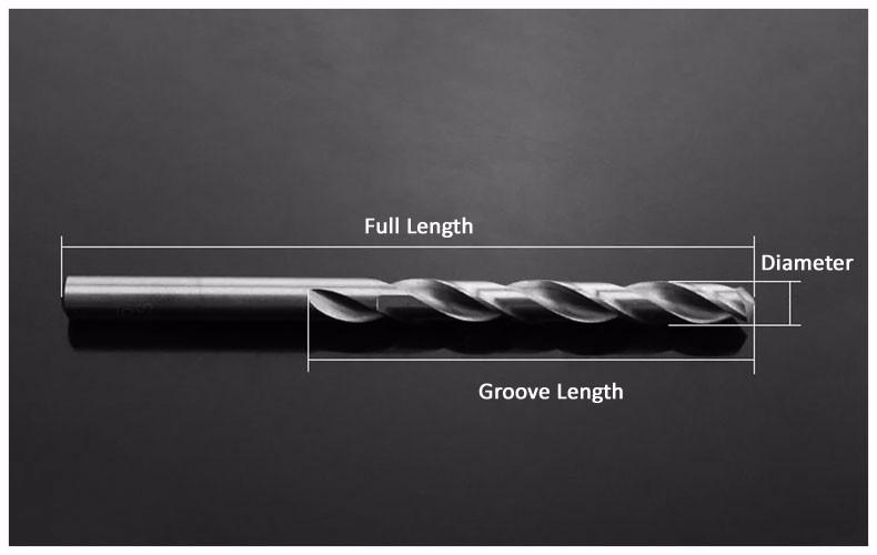 5.8-8.5mm Titanium-plated HSS Twist Drill Metric Drills Bits Drillable Stainless