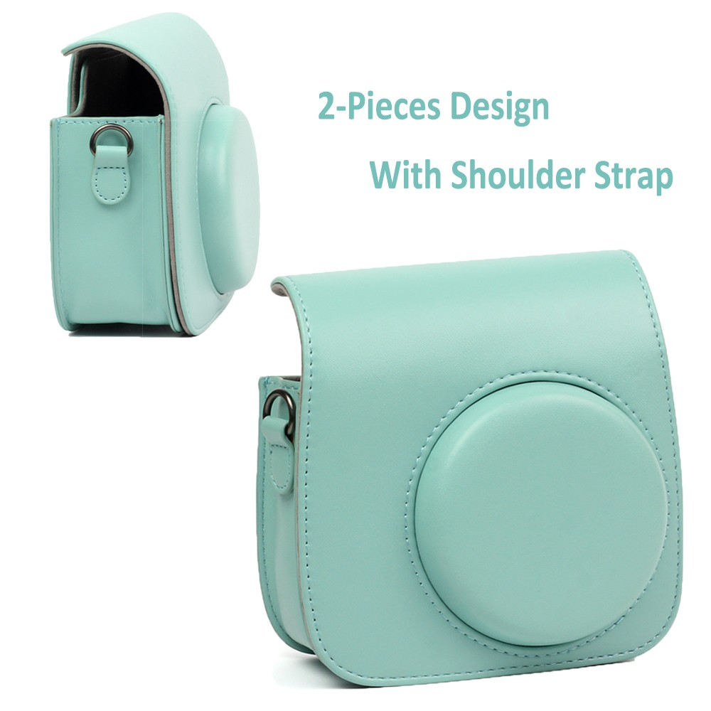 Details about For Fujifilm Instax Mini 8 9 Film Fuji Camera Ice Blue Bag Shoulder Case Cover