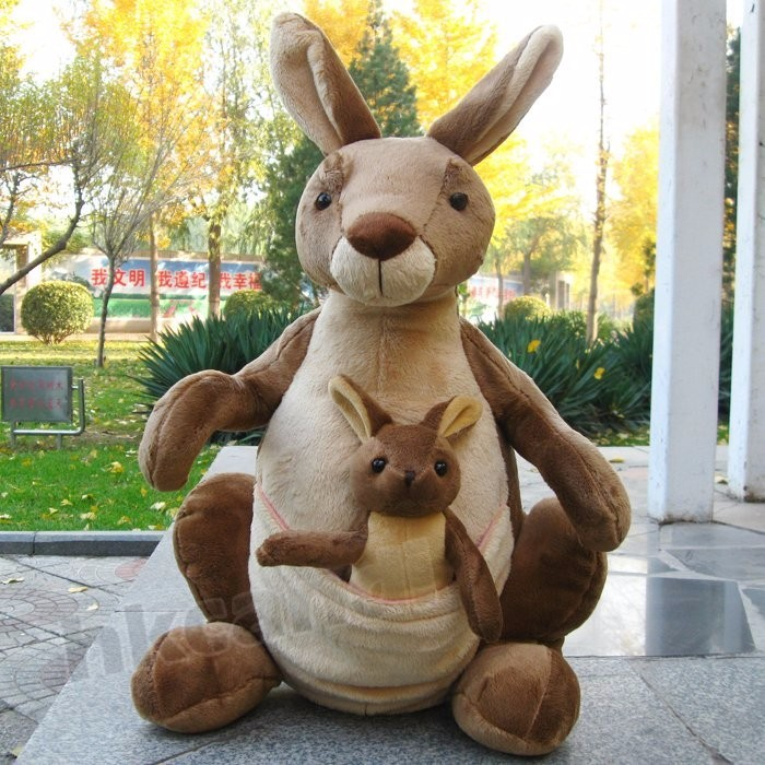 15inch Stuffed Animals Soft Toy Mother Child Kangaroo Plush Doll