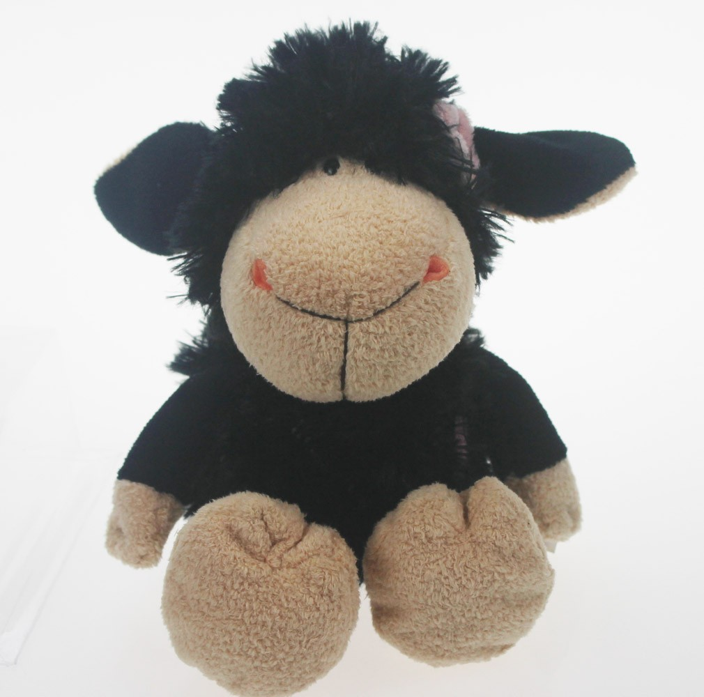 25 Cm Girl Flower Black Sheep Stuffed Animals Soft Toy Baby Dolls
