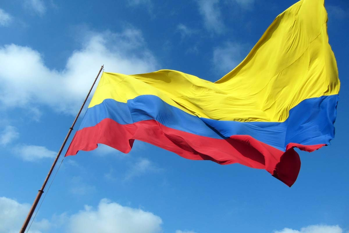3x5 ft colombia flag 90 150cm hanging colombian festival banner