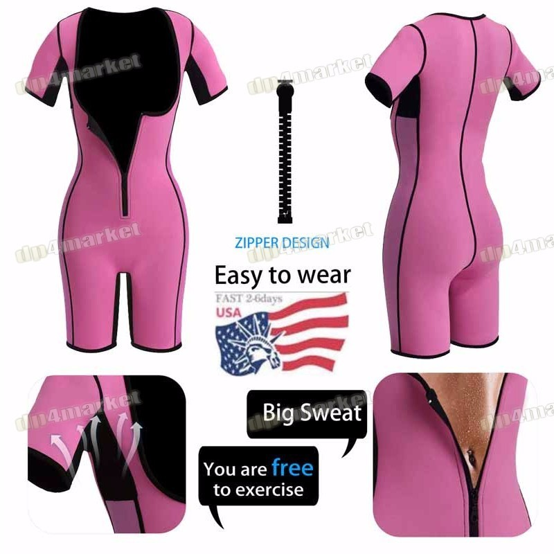 Women Neoprene Full Bodysuit Shaper Compression Sauna Suit Sweat Yago Shapewear