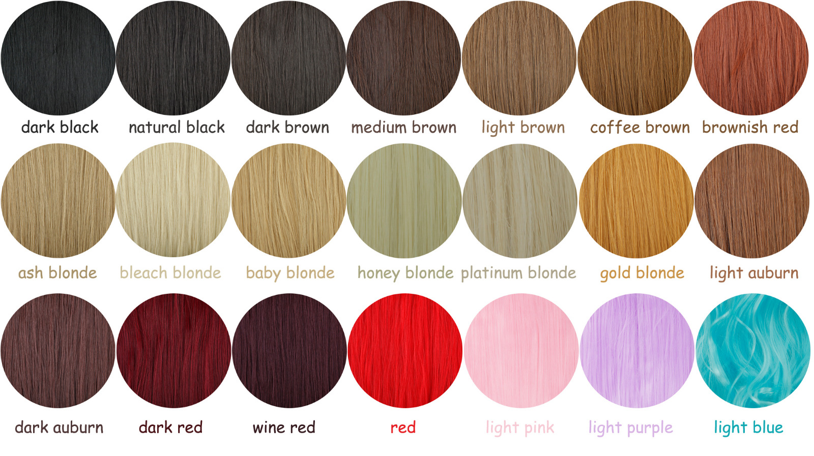Ombre real new women clip in hair extensions 34 full head brown colors chart nvjuhfo Choice Image