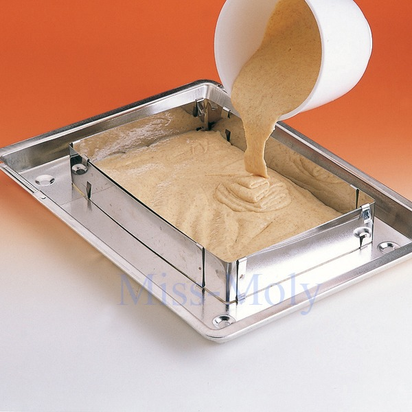 Adjustable Extendable Square Layered Cake Tart Pan Frame
