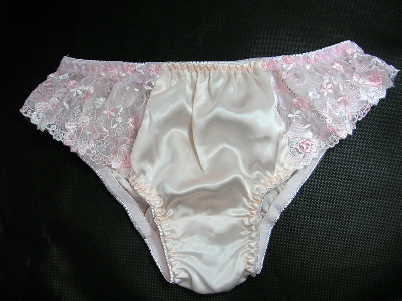 womens briefs panties 100% silk low rise with lace s m l xl xxl