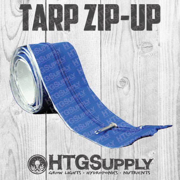 Tarp Zip Up Zipper Door Grow Room Tent Doorway Garden