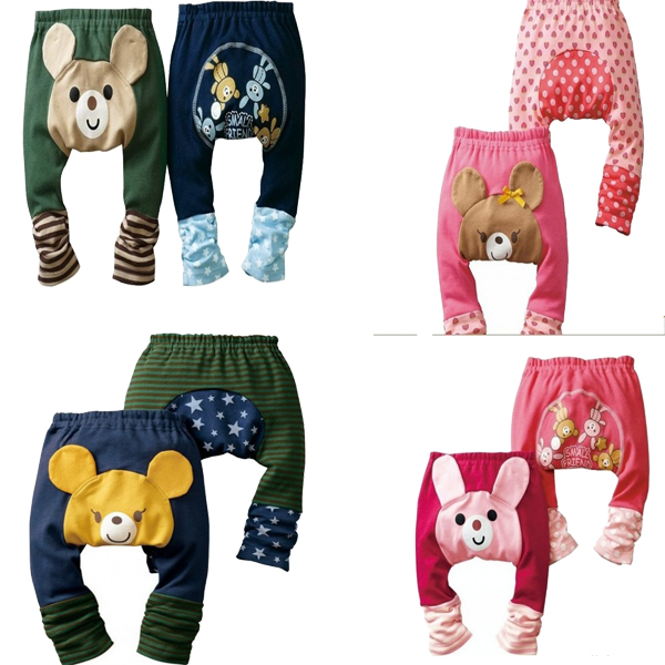 Toddler Baby Girls Boys Warmer Pattern Cotton Pants PP Trousers Baby 80 90 100cm