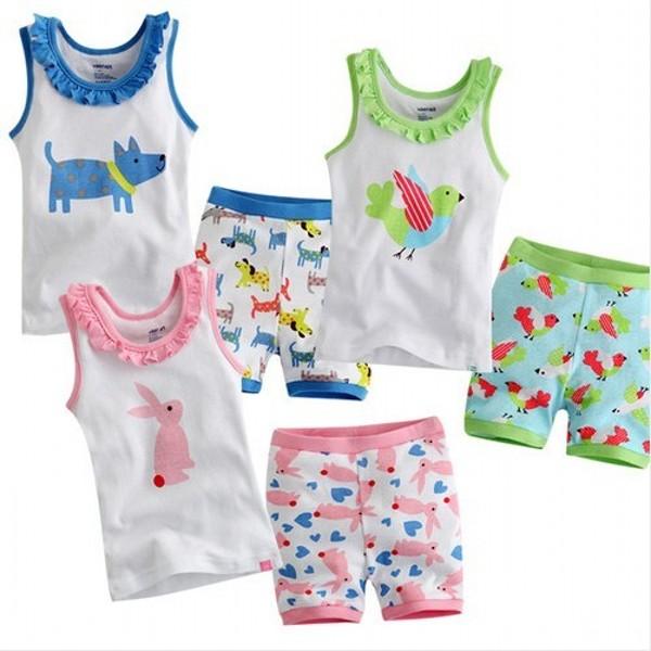 Multi Style Cool Baby Toddler Kid Boy Girl Short Sleeveless Sleepwear Pajama Set