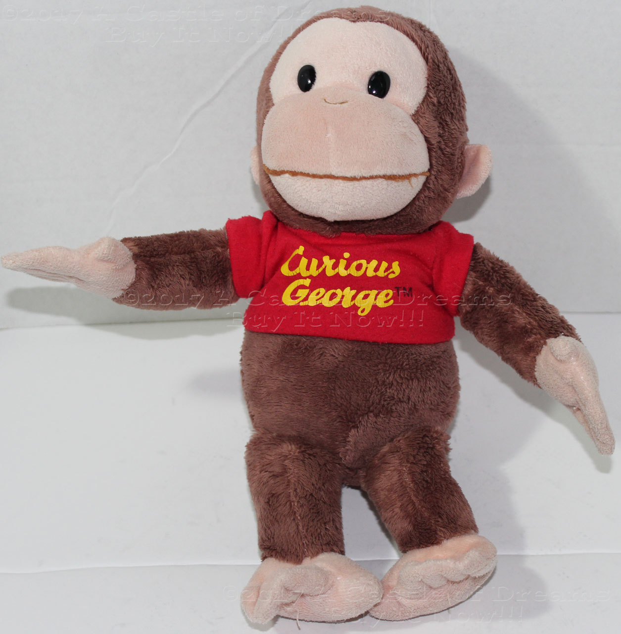 """Curious George and his Bunny Gund 10/"""""""
