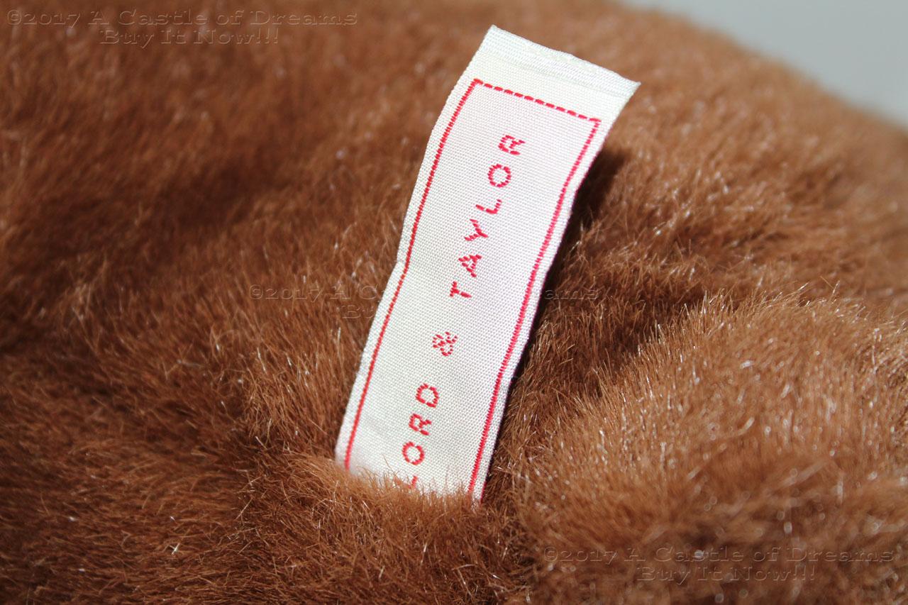 Vintage 2000 GUND LORD & TAYLOR BROWN TEDDY BEAR Scarf Beanie ...